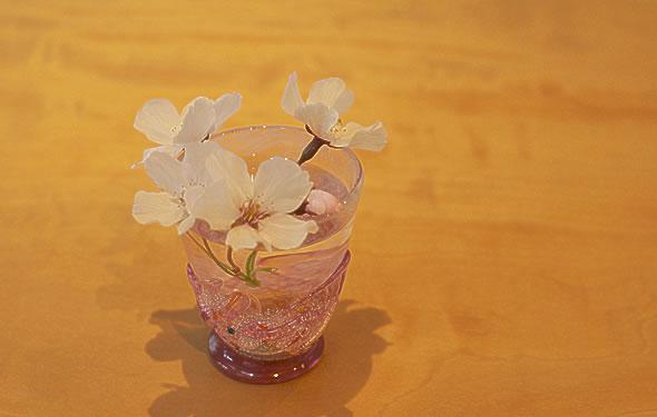 桜模様のりんご