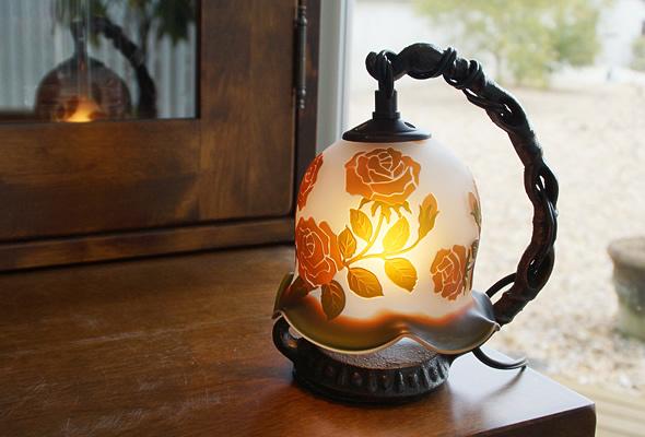 薔薇のランプ