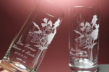ブルームーンのタンブラーグラス