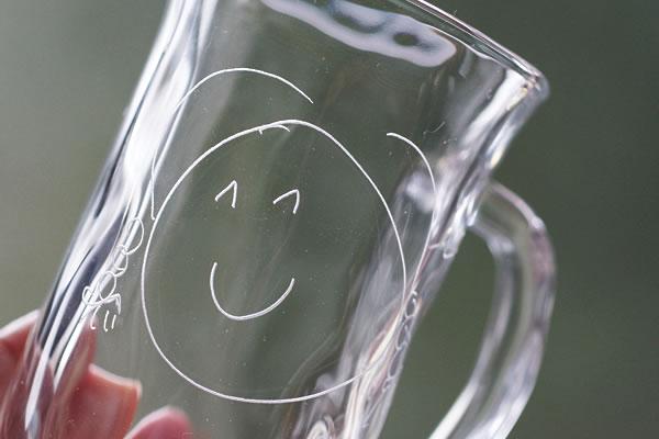 さとうガラス工房の名入れグラス