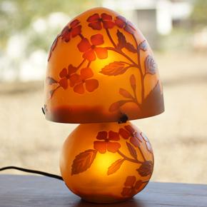 オレンジ小花柄
