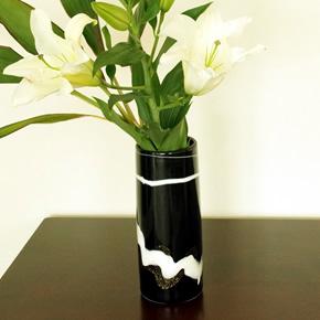 フラワーベース(黒×白)