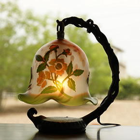 円柱-花盛り柄